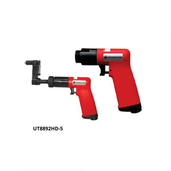 UT8892HD 5 1 Avvitatori per assemblaggio industriale The execution accuracy guarantees 600,000 cycles of use of the UT drills for the Aerospace sector The internal silencer deflector reduces the noise level to 75 dBA Interchangeable gear box and the advanced ergonomic handle with insulating coating for maximum operator comfort