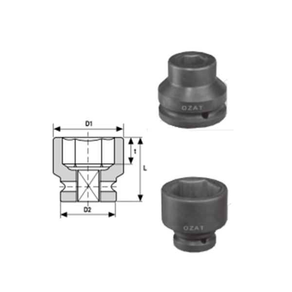 IMMAGINE 1 1 2 SQ DRIVE 6 POINT SOCKETS REGULAR LENGTH 1  Avvitatori per assemblaggio industriale The best quality of a screwing compass can be found in the ability to withstand the greatest number of impact blows generated by the tools, by the precision with which the coupling between the exit shaft of the screwdriver and the drive (square drive) of the compass and the quality of the material in which the compass is made. The OZAT compasses by Airtechnology are made with special processes that combine the traditional electroerosions in a special chemical bath. This process gives the bushes characteristics of resistance to wear and strength to use unique in the market.