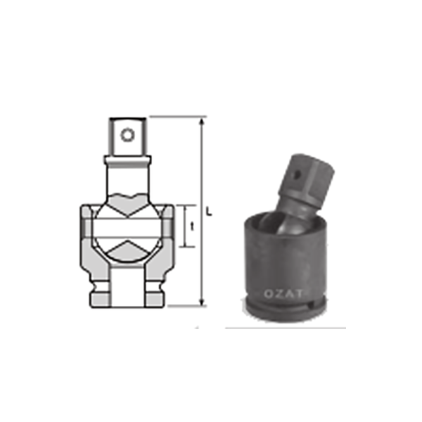IMMAGINE 1 SQ DRIVE UNIVERSAL JOINT 1 Avvitatori per assemblaggio industriale The best quality of a screwing compass can be found in the ability to withstand the greatest number of impact blows generated by the tools, by the precision with which the coupling between the exit shaft of the screwdriver and the drive (square drive) of the compass and the quality of the material in which the compass is made. The OZAT compasses by Airtechnology are made with special processes that combine the traditional electroerosions in a special chemical bath. This process gives the bushes characteristics of resistance to wear and strength to use unique in the market.