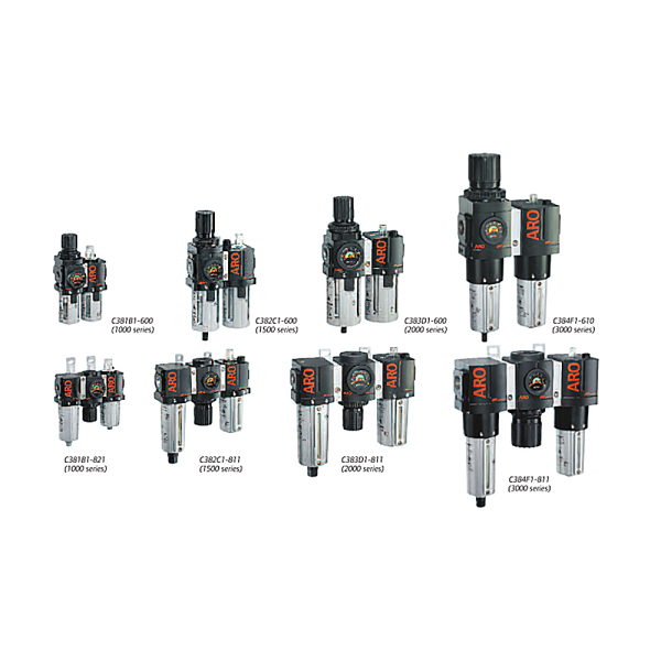 IMMAGINE ARO FLO 2 AND 3 PIECE COMBINATION UNITS 1 Avvitatori per assemblaggio industriale The use of air preparation devices, such as filters, regulators, and lubricators is an excellent means of keeping your tools and equipment to operate at their peak performance