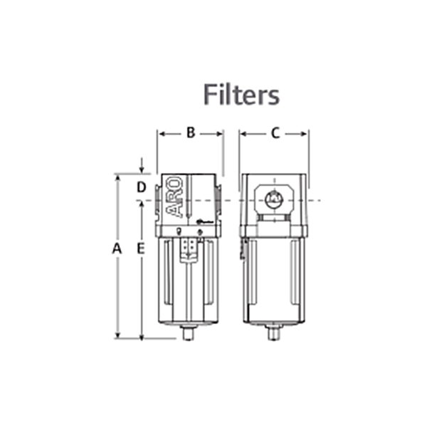 IMMAGINE DIMENSIONI 8 Avvitatori per assemblaggio industriale The use of air preparation devices, such as filters, regulators, and lubricators is an excellent means of keeping your tools and equipment to operate at their peak performance