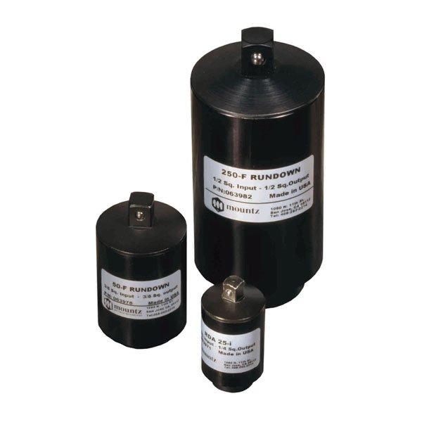 IMMAGINE Run Down Adapters Avvitatori per assemblaggio industriale Gli RDA (Run Down Adapter) sono simulatori di giunto progettati per fornire letture di coppia coerenti e affidabili, e si utilizzano in abbinamento a sensori BMXe ai lettori di coppia PTT o LTT.