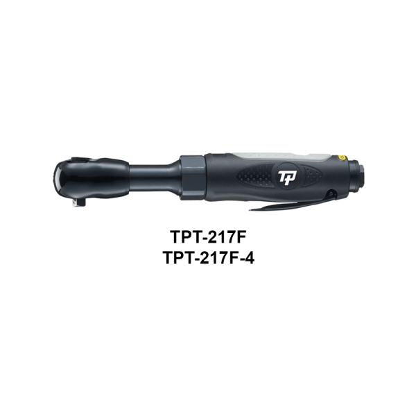 "TPT 217F 4 Avvitatori per assemblaggio industriale Thanks to their small size and minimum weight, TP air ratchets are the ideal tool to easily reach more difficult points Compound materials and proven durability heads give reliability and long life A complete range of tools with 1/4 ""to 1/2"" sleeve holders both in aluminum and in composite material, offer a wide choice of use and versatility of use."