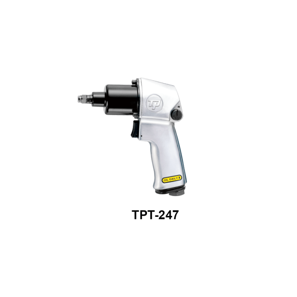 TPT 247  Avvitatori per assemblaggio industriale The use of the latest technologies and materials, such as the composite material or aluminum structure, and the high power capacity make the impact tools of the TPT professional power tools series the best in every class. Our versatile line offers different torque transmission technologies, from the classic mono and double hammer, to the docking dog system to the latest patented Machoneer system capable of transmitting the highest power on the market today with a noise level of only 85 Dba for use in accordance with of law even in closed environments