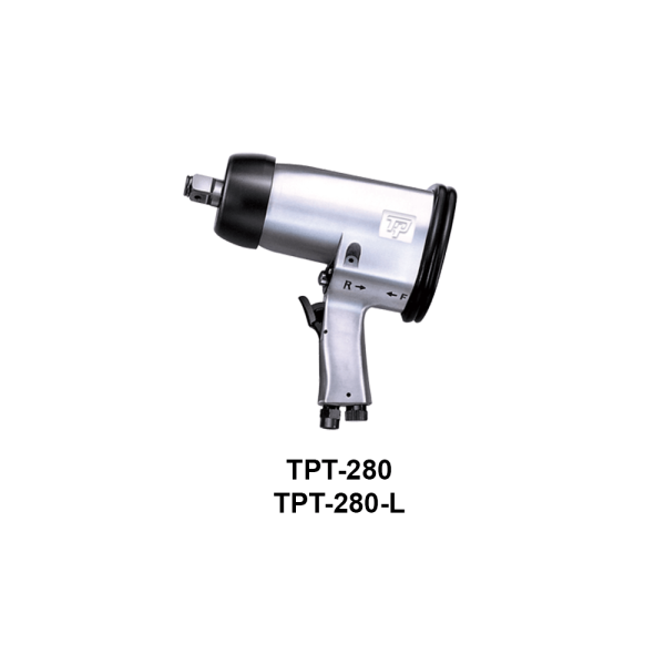 TPT 280  Avvitatori per assemblaggio industriale The use of the latest technologies and materials, such as the composite material or aluminum structure, and the high power capacity make the impact tools of the TPT professional power tools series the best in every class. Our versatile line offers different torque transmission technologies, from the classic mono and double hammer, to the docking dog system to the latest patented Machoneer system capable of transmitting the highest power on the market today with a noise level of only 85 Dba for use in accordance with of law even in closed environments