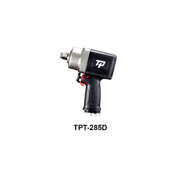 """TPT 285D Avvitatori per assemblaggio industriale The use of the latest technologies and materials, such as the composite material or aluminum structure, and the high power capacity make the impact tools of the TPT professional power tools series the best in every class. Our versatile line offers different torque transmission technologies, from the classic mono and double hammer, to the docking dog system to the latest patented Machoneer system capable of transmitting the highest power on the market today with a noise level of only 85 Dba for use in accordance with of law even in closed environments A complete range of tools from 3/8 """"to 1"""" -1/2 both in aluminum and in composite material, offer a wide choice of use and versatility of use"""