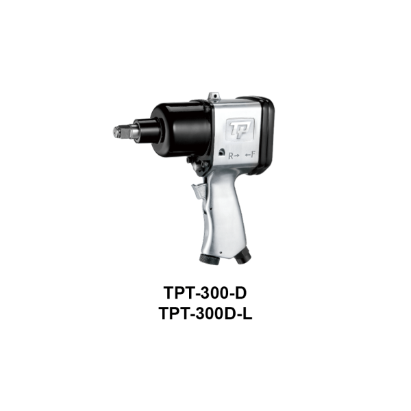 TPT 300 D  Avvitatori per assemblaggio industriale The use of the latest technologies and materials, such as the composite material or aluminum structure, and the high power capacity make the impact tools of the TPT professional power tools series the best in every class. Our versatile line offers different torque transmission technologies, from the classic mono and double hammer, to the docking dog system to the latest patented Machoneer system capable of transmitting the highest power on the market today with a noise level of only 85 Dba for use in accordance with of law even in closed environments