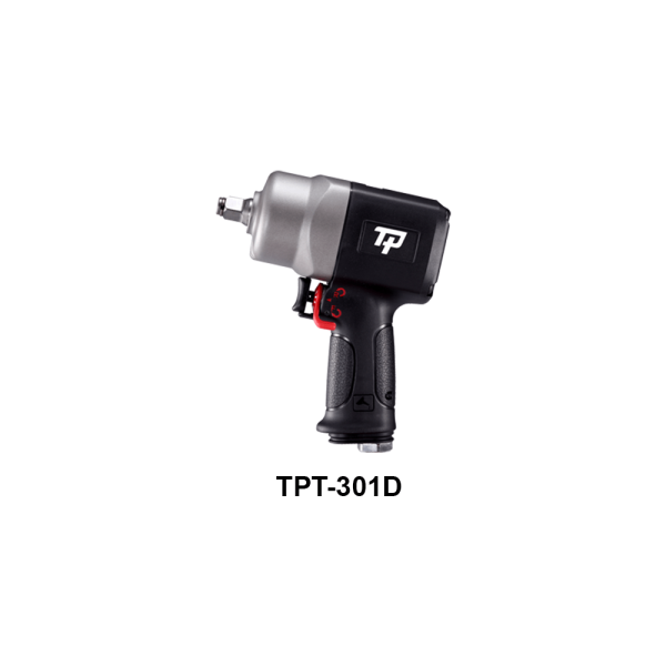 TPT 301D  Avvitatori per assemblaggio industriale The use of the latest technologies and materials, such as the composite material or aluminum structure, and the high power capacity make the impact tools of the TPT professional power tools series the best in every class. Our versatile line offers different torque transmission technologies, from the classic mono and double hammer, to the docking dog system to the latest patented Machoneer system capable of transmitting the highest power on the market today with a noise level of only 85 Dba for use in accordance with of law even in closed environments