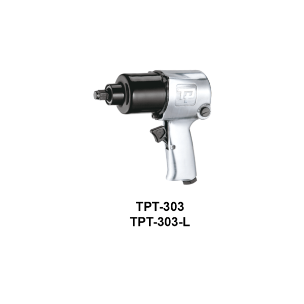 TPT 303  Avvitatori per assemblaggio industriale The use of the latest technologies and materials, such as the composite material or aluminum structure, and the high power capacity make the impact tools of the TPT professional power tools series the best in every class. Our versatile line offers different torque transmission technologies, from the classic mono and double hammer, to the docking dog system to the latest patented Machoneer system capable of transmitting the highest power on the market today with a noise level of only 85 Dba for use in accordance with of law even in closed environments