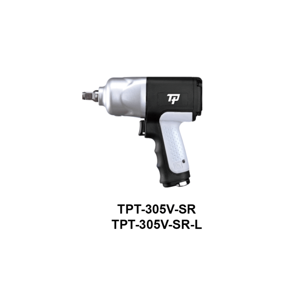 TPT 305V SR  Avvitatori per assemblaggio industriale The use of the latest technologies and materials, such as the composite material or aluminum structure, and the high power capacity make the impact tools of the TPT professional power tools series the best in every class. Our versatile line offers different torque transmission technologies, from the classic mono and double hammer, to the docking dog system to the latest patented Machoneer system capable of transmitting the highest power on the market today with a noise level of only 85 Dba for use in accordance with of law even in closed environments