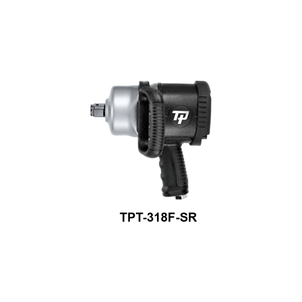 TPT 318F SR  Avvitatori per assemblaggio industriale The use of the latest technologies and materials, such as the composite material or aluminum structure, and the high power capacity make the impact tools of the TPT professional power tools series the best in every class. Our versatile line offers different torque transmission technologies, from the classic mono and double hammer, to the docking dog system to the latest patented Machoneer system capable of transmitting the highest power on the market today with a noise level of only 85 Dba for use in accordance with of law even in closed environments