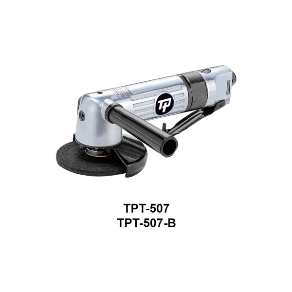 TPT 507 Avvitatori per assemblaggio industriale The TP series grinders offer maximum yield during material removal with minimum effort. The TP series grinders are robust, durable and light, easy to handle. The range covers pencil grinders and many straight grinders and angle grinders (from 50 mm up to 180 mm ), Particularly proud it covers the new series of high-power industrial grinders (1-1.5 HP ) available in all versions