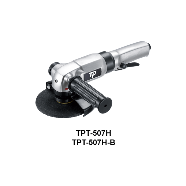 TPT 507H Avvitatori per assemblaggio industriale The TP series grinders offer maximum yield during material removal with minimum effort. The TP series grinders are robust, durable and light, easy to handle. The range covers pencil grinders and many straight grinders and angle grinders (from 50 mm up to 180 mm ), Particularly proud it covers the new series of high-power industrial grinders (1-1.5 HP ) available in all versions