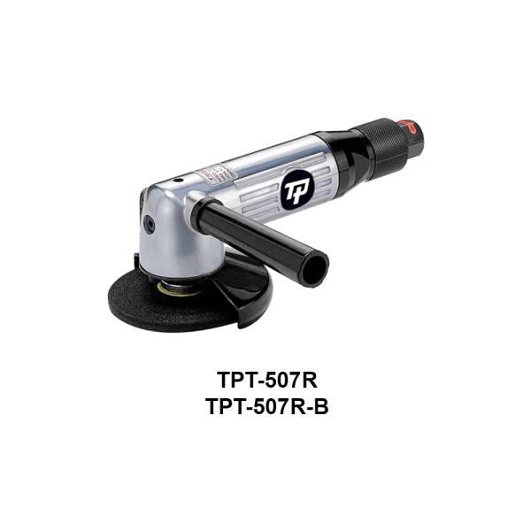 TPT 507R Avvitatori per assemblaggio industriale The TP series grinders offer maximum yield during material removal with minimum effort. The TP series grinders are robust, durable and light, easy to handle. The range covers pencil grinders and many straight grinders and angle grinders (from 50 mm up to 180 mm ), Particularly proud it covers the new series of high-power industrial grinders (1-1.5 HP ) available in all versions