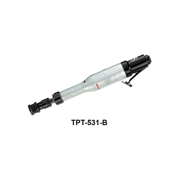 TPT 531 B Avvitatori per assemblaggio industriale The TP series grinders offer maximum yield during material removal with minimum effort. The TP series grinders are robust, durable and light, easy to handle. The range covers pencil grinders and many straight grinders and angle grinders (from 50 mm up to 180 mm ), Particularly proud it covers the new series of high-power industrial grinders (1-1.5 HP ) available in all versions