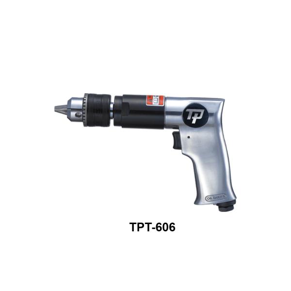 TPT 606 Avvitatori per assemblaggio industriale I trapani pneumatici serie TPT sono progettati e costruiti per garantire massima produttività e maneggevolezza grazie al favorevole rapporto potenza/peso.