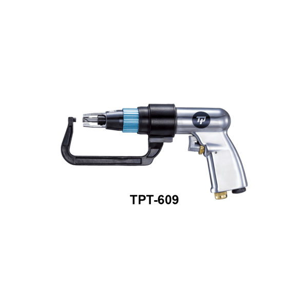 TPT 609  Avvitatori per assemblaggio industriale A complete range of special tools for specific operations dedicated to the world of car repair complete the range offered by TPT In fact, riveting tools, glazing and nibbling systems and rivet cutter, glue spreading guns and for greasing components are available. Furthermore, a wide range of electronic torque wrenches to simplify control operations complete the TPT special tool series
