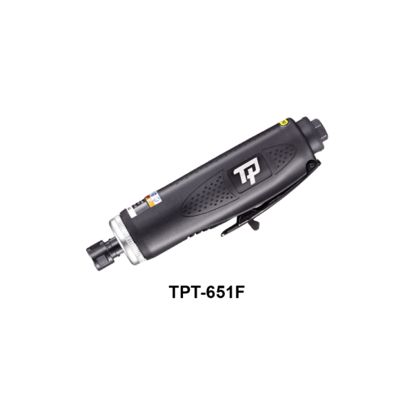 TPT 651F 2 Avvitatori per assemblaggio industriale The TP series grinders offer maximum yield during material removal with minimum effort. The TP series grinders are robust, durable and light, easy to handle. The range covers pencil grinders and many straight grinders and angle grinders (from 50 mm up to 180 mm ), Particularly proud it covers the new series of high-power industrial grinders (1-1.5 HP ) available in all versions