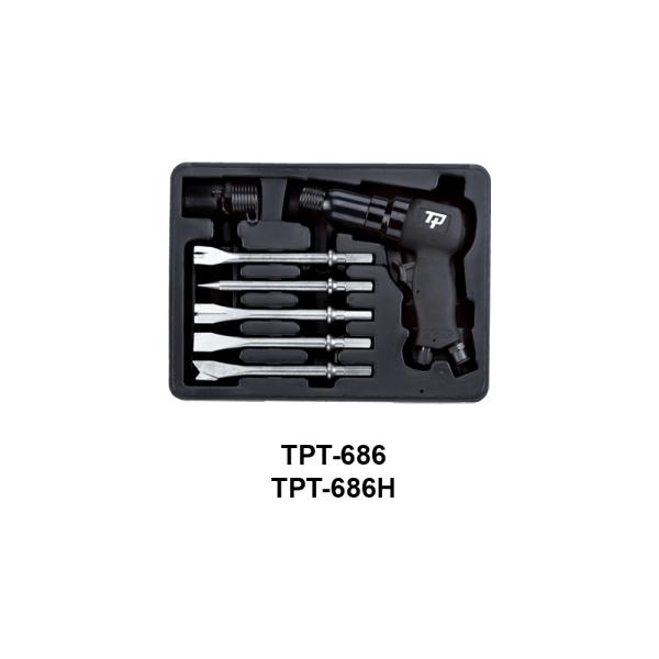 TPT 686  Avvitatori per assemblaggio industriale I martelli pneumatici sono utensili con una speciale combinazione di potenza, compattezza e leggerezza, costruiti per resistere ai lavori più impegnativi e più difficili.  ATTENZIONE:I modelli TPT-930,TPT-930H,TPT-931,TPT-931H,TPT-932,TPT-932H non sono al momento disponibili.