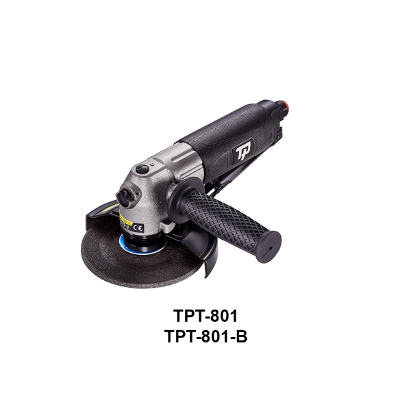TPT 801 1 Avvitatori per assemblaggio industriale The TP series grinders offer maximum yield during material removal with minimum effort. The TP series grinders are robust, durable and light, easy to handle. The range covers pencil grinders and many straight grinders and angle grinders (from 50 mm up to 180 mm ), Particularly proud it covers the new series of high-power industrial grinders (1-1.5 HP ) available in all versions