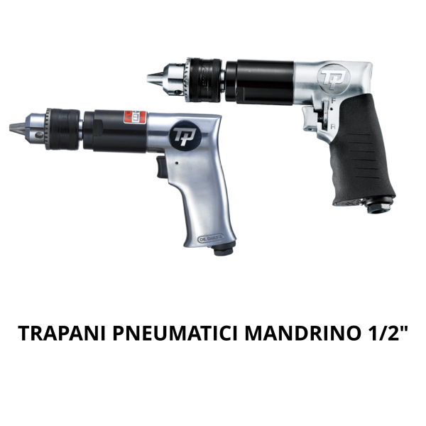 """TRANMAX TPT TRAPANI MANDRINO 1 2 COPERTINA Avvitatori per assemblaggio industriale With drilling capacity from 6mm (1/4"""") to 13mm (1/2""""), various speeds and power, TP drills are designed to handle both your tough and smooth operations. The range provides straight, angle a"""