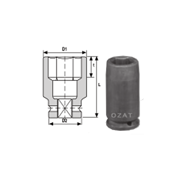 1 2 SQUARE DRIVE IMPACT SOCKET LONG 1  Avvitatori per assemblaggio industriale The best quality of a screwing compass can be found in the ability to withstand the greatest number of impact blows generated by the tools, by the precision with which the coupling between the exit shaft of the screwdriver and the drive (square drive) of the compass and the quality of the material in which the compass is made.