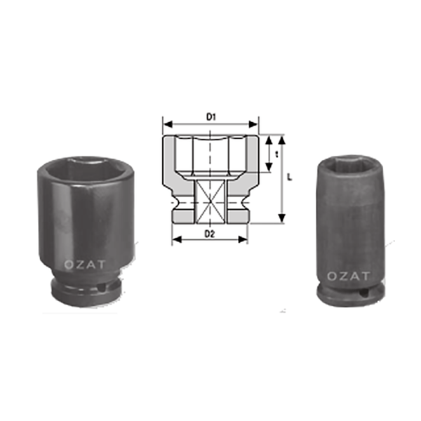 IMMAGINE 3 1 2 SQ DRIVE 6 POINT SOCKETS LONG 1  Avvitatori per assemblaggio industriale The best quality of a screwing compass can be found in the ability to withstand the greatest number of impact blows generated by the tools, by the precision with which the coupling between the exit shaft of the screwdriver and the drive (square drive) of the compass and the quality of the material in which the compass is made. The OZAT compasses by Airtechnology are made with special processes that combine the traditional electroerosions in a special chemical bath. This process gives the bushes characteristics of resistance to wear and strength to use unique in the market.