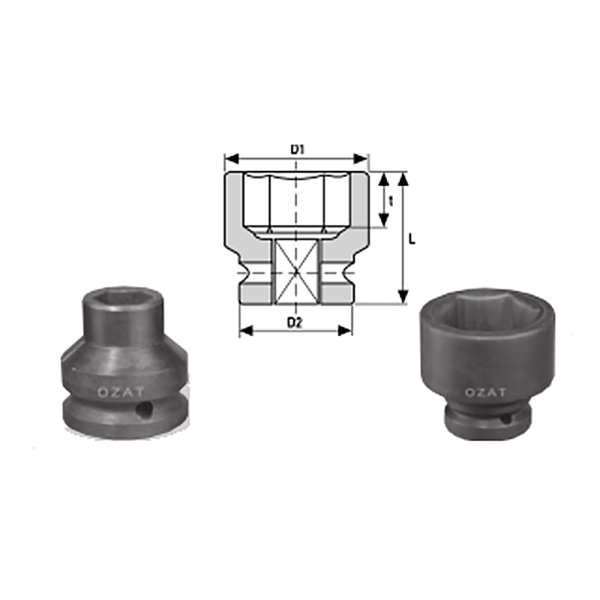 IMMAGINE 3 4 SQ DRIVE 6 POINT IMPACT SOCKETS REGULAR LENGTH 1  Avvitatori per assemblaggio industriale The best quality of a screwing compass can be found in the ability to withstand the greatest number of impact blows generated by the tools, by the precision with which the coupling between the exit shaft of the screwdriver and the drive (square drive) of the compass and the quality of the material in which the compass is made.