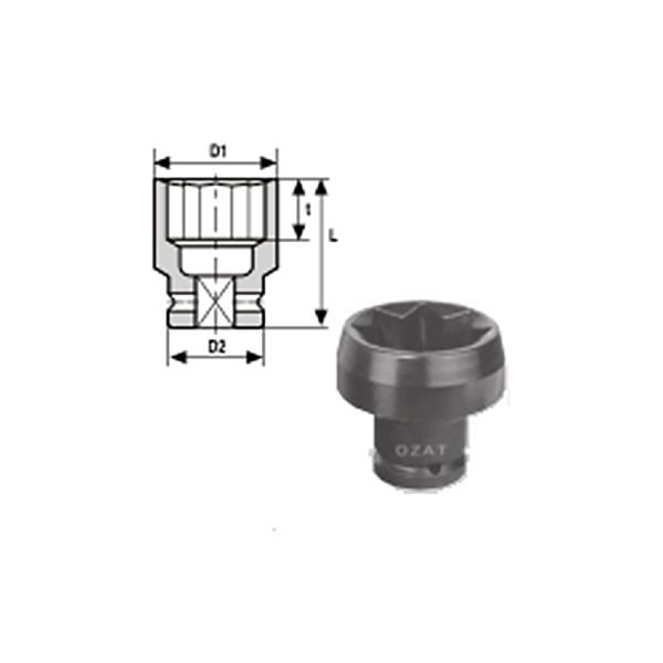 IMMAGINE 3 4 SQ DRIVE 8 POINT IMPACT SOCKET LONG 1  Avvitatori per assemblaggio industriale The best quality of a screwing compass can be found in the ability to withstand the greatest number of impact blows generated by the tools, by the precision with which the coupling between the exit shaft of the screwdriver and the drive (square drive) of the compass and the quality of the material in which the compass is made.