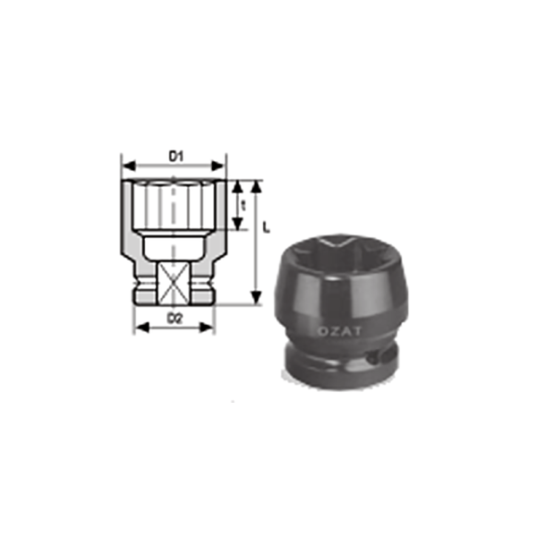 IMMAGINE 3 4 SQ DRIVE 8 POINT IMPACT SOCKET REGULAR LENGTH 1  Avvitatori per assemblaggio industriale The best quality of a screwing compass can be found in the ability to withstand the greatest number of impact blows generated by the tools, by the precision with which the coupling between the exit shaft of the screwdriver and the drive (square drive) of the compass and the quality of the material in which the compass is made.