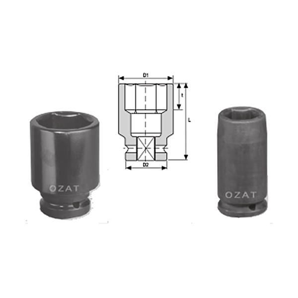 IMMAGINE PER TABELLA2 E 3 2 1 2 SQ DRIVE 6 POINT SOCKETS LONG 1 Avvitatori per assemblaggio industriale The best quality of a screwing compass can be found in the ability to withstand the greatest number of impact blows generated by the tools, by the precision with which the coupling between the exit shaft of the screwdriver and the drive (square drive) of the compass and the quality of the material in which the compass is made. The OZAT compasses by Airtechnology are made with special processes that combine the traditional electroerosions in a special chemical bath. This process gives the bushes characteristics of resistance to wear and strength to use unique in the market.