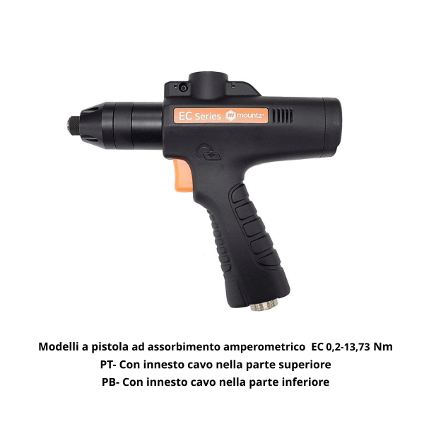 1 AVVITATORI A PISTOLA SERIE EC PT Avvitatori per assemblaggio industriale Equipped with the latest generation of brushless absorption motors, the MD series tools are able to manage the entire fixing process precisely, accurately and functionally. Available in four different configurations and a range up to 50 Nm, these tools are ideal for small and medium torque applications.