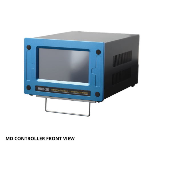 MOUNTZ MD CONTROLLER FRONT VIEW  Avvitatori per assemblaggio industriale The DC control tool delivers cost savings and quality benefits through useful features such as digitally adjustable torque setting, variable torque and speed control, multiple I/O options for integration with PLC and other line control techniques. A Windows-based software package that can customize each fastening application is included with the product. The torque control system features error-proofing capabilities and screw counting. Multiple fastening strategies can be implemented for sensitive and/or difficult assembly joints. The system increases productivity as one tool can be programmed to do the job of multiple conventional tools; saving time, maintenance cost, space and training.