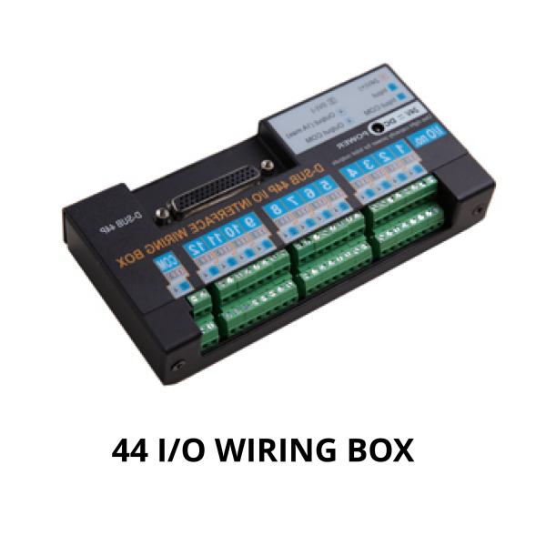 MOUNTZ MD SERIE 44P I O WIRING BOX 2  Avvitatori per assemblaggio industriale It provides easy and convenient wiring for 12 inputs and outputs for a MDC or ADC controller by sharing one single 24V power source. (Input power: 24VDC 1 A) 44P I/O Wiring Box, Item# 310055 AC Adapter, ltem#14-GCM6913
