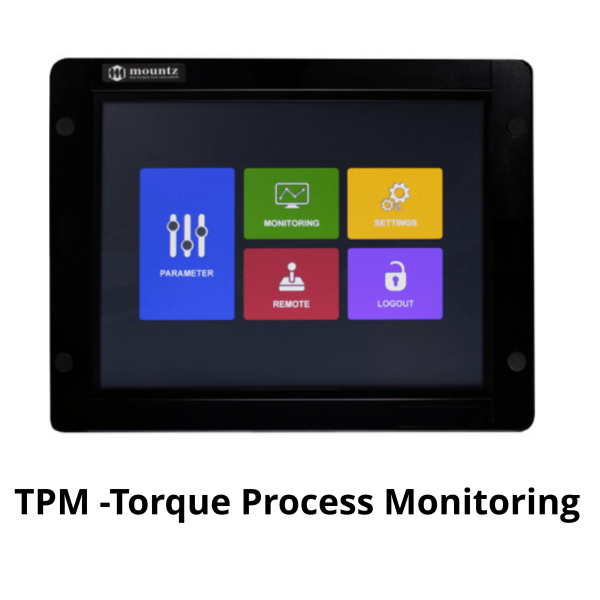 MOUNTZ MD SERIE TPM Avvitatori per assemblaggio industriale TPM (Torque Process Monitoring) Touch Screen This touch screen can be used for data collection, programming the MDC or ADC controller as well as monitoring the fastening process.