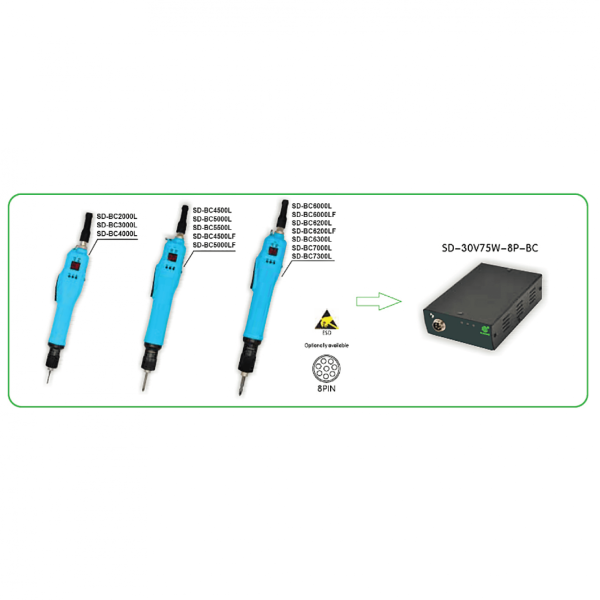 SUDONG SD BC Avvitatori per assemblaggio industriale Created to define new standards in manual screwing applications, the low voltage brushless screwdriver series is the ideal choice for all applications with low torques.