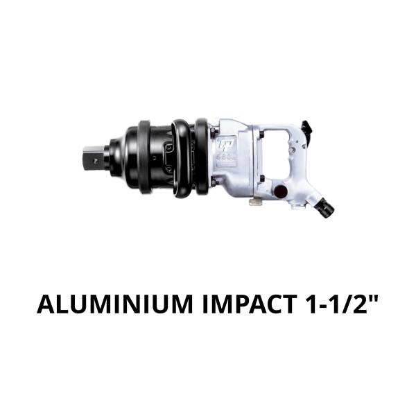 "TRANMAX TPT ALUMINIUM IMPACT WRENCH 1 1 2 Avvitatori per assemblaggio industriale The use of the latest technologies and materials, such as the composite material or aluminum structure, and the high power capacity make the impact tools of the TPT professional power tools series the best in every class. Our versatile line offers different torque transmission technologies, from the classic mono and double hammer, to the docking dog system to the latest patented Machoneer system capable of transmitting the highest power on the market today with a noise level of only 85 Dba for use in accordance with of law even in closed environments A complete range of tools from 3/8 ""to 1"" -1/2 both in aluminum and in composite material, offer a wide choice of use and versatility of use"