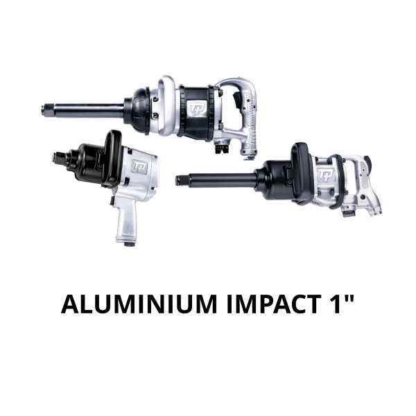 "TRANMAX TPT ALUMINIUM IMPACT WRENCH 1 Avvitatori per assemblaggio industriale The use of the latest technologies and materials, such as the composite material or aluminum structure, and the high power capacity make the impact tools of the TPT professional power tools series the best in every class. Our versatile line offers different torque transmission technologies, from the classic mono and double hammer, to the docking dog system to the latest patented Machoneer system capable of transmitting the highest power on the market today with a noise level of only 85 Dba for use in accordance with of law even in closed environments A complete range of tools from 3/8 ""to 1"" -1/2 both in aluminum and in composite material, offer a wide choice of use and versatility of use"