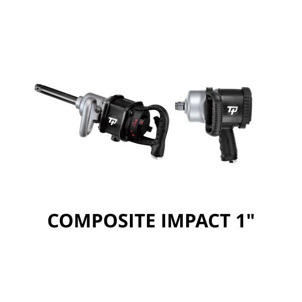 TRANMAX TPT COMPOSITE IMPACT WRENCH 1  Avvitatori per assemblaggio industriale The use of the latest technologies and materials, such as the composite material or aluminum structure, and the high power capacity make the impact tools of the TPT professional power tools series the best in every class. Our versatile line offers different torque transmission technologies, from the classic mono and double hammer, to the docking dog system to the latest patented Machoneer system capable of transmitting the highest power on the market today with a noise level of only 85 Dba for use in accordance with of law even in closed environments