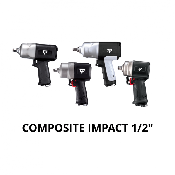 TRANMAX TPT COMPOSITE IMPACT WRENCH 1 2  Avvitatori per assemblaggio industriale The use of the latest technologies and materials, such as the composite material or aluminum structure, and the high power capacity make the impact tools of the TPT professional power tools series the best in every class. Our versatile line offers different torque transmission technologies, from the classic mono and double hammer, to the docking dog system to the latest patented Machoneer system capable of transmitting the highest power on the market today with a noise level of only 85 Dba for use in accordance with of law even in closed environments