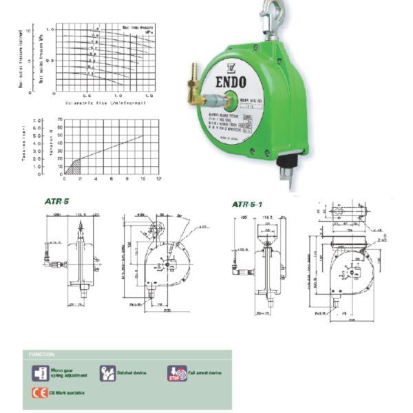 ATR Avvitatori per assemblaggio industriale I bilanciatori a molla della gamma Airtechnology / ENDO presentano diversi modelli ciascuno con specifiche peculiarità: SERIE EK – ERP – Capacità di bilanciamento e ritrazione leggera per carichi fino a 1,5 Kg per EK e fino a 2,0 Kg per ERP SERIE ATB-THB – Capacità di bilanciamento e ritrazione con alimentazione diretta avvitatori pneumatici di peso sino a 6,5 Kg SERIE EW - EWS – Capacità di bilanciamento e ritrazione per carichi sino a 7 Kg SERIE EWF - Capacità di bilanciamento e ritrazione per carichi sino a 120 Kg SERIE A – Capacità di bilanciamento e ritrazione da 70 fino a 120 Kg con sistema di riavvolgimento e ritrazione frizionato per un riavvolgimento rallentato e gancio di appensione prolungato SERIE B – Capacità di bilanciamento e ritrazione sino a 7 Kg con sistema di riavvolgimento e ritrazione frizionato per un riavvolgimento rallentato SERIE C Green Generation - Bilanciatori in acciaio zincato non verniciato capacità di sollevamento e ritrazione siano a 120 Kg SERIE X Green Generation - Bilanciatori in acciaio zincato non verniciato capacità di sollevamento e ritrazione siano a 120 Kg SERIE Y Green Generation - Bilanciatori in acciaio INOX capacità di sollevamento e ritrazione siano a 120 Kg ideali PER APPLICAZIONI IN AMBITI ALIMENTARI SERIE ELF - Capacità di bilanciamento e ritrazione sino a 70 Kg ma con corsa di avvolgimento lunga SERIE EWA - Capacità di bilanciamento e ritrazione sino a 70 Kg ma con sistema di sicurezza anti riavvolgimento improvviso del cavo (snap-back) in caso di perdita del carico o di rottura del cavo di apprensione carico SERIE ETP - Capacità di bilanciamento e ritrazione per carichi da 120 Kg sino a 200 Kg