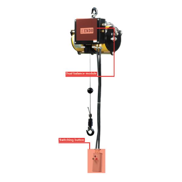 ENDO AIR BALANCER BC2 immagine 2 Avvitatori per assemblaggio industriale I bilanciatori ad aria ENDO sono il sistema ideale per le movimentazioni ergonomiche all'interno di una linea produttiva. I bilanciatori ad aria sono utilizzati principalmente per le operazioni di pick&place e posizionamento, e consentono l'annullamento del carico movimentato rendendo le operazioni di spostamento più facili ed agevoli per gli operatori. Il basso consumo di aria durante l'utilizzo rende inoltre il sistema ENDO il più efficiente e a basso impatto ambientale nella categoria.