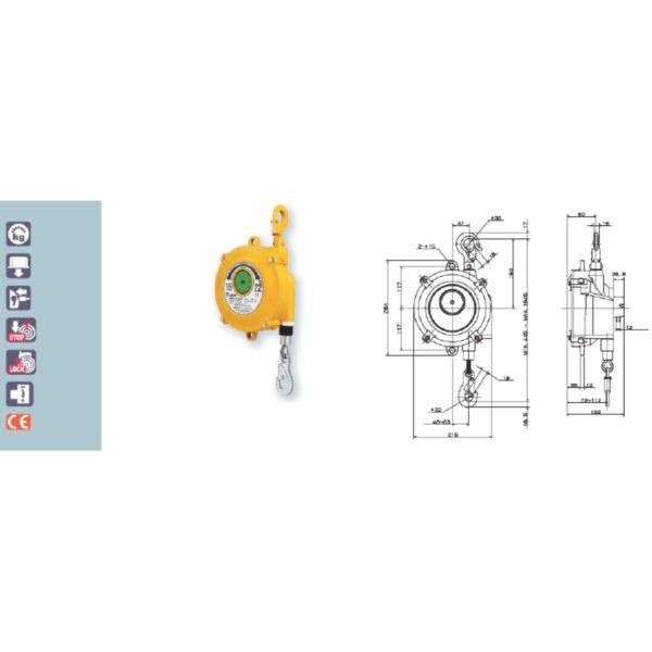 EWF 22 30 Avvitatori per assemblaggio industriale I bilanciatori a molla della gamma Airtechnology / ENDO presentano diversi modelli ciascuno con specifiche peculiarità: SERIE EK – ERP – Capacità di bilanciamento e ritrazione leggera per carichi fino a 1,5 Kg per EK e fino a 2,0 Kg per ERP SERIE ATB-THB – Capacità di bilanciamento e ritrazione con alimentazione diretta avvitatori pneumatici di peso sino a 6,5 Kg SERIE EW - EWS – Capacità di bilanciamento e ritrazione per carichi sino a 7 Kg SERIE EWF - Capacità di bilanciamento e ritrazione per carichi sino a 120 Kg SERIE A – Capacità di bilanciamento e ritrazione da 70 fino a 120 Kg con sistema di riavvolgimento e ritrazione frizionato per un riavvolgimento rallentato e gancio di appensione prolungato SERIE B – Capacità di bilanciamento e ritrazione sino a 7 Kg con sistema di riavvolgimento e ritrazione frizionato per un riavvolgimento rallentato SERIE C Green Generation - Bilanciatori in acciaio zincato non verniciato capacità di sollevamento e ritrazione siano a 120 Kg SERIE X Green Generation - Bilanciatori in acciaio zincato non verniciato capacità di sollevamento e ritrazione siano a 120 Kg SERIE Y Green Generation - Bilanciatori in acciaio INOX capacità di sollevamento e ritrazione siano a 120 Kg ideali PER APPLICAZIONI IN AMBITI ALIMENTARI SERIE ELF - Capacità di bilanciamento e ritrazione sino a 70 Kg ma con corsa di avvolgimento lunga SERIE EWA - Capacità di bilanciamento e ritrazione sino a 70 Kg ma con sistema di sicurezza anti riavvolgimento improvviso del cavo (snap-back) in caso di perdita del carico o di rottura del cavo di apprensione carico SERIE ETP - Capacità di bilanciamento e ritrazione per carichi da 120 Kg sino a 200 Kg