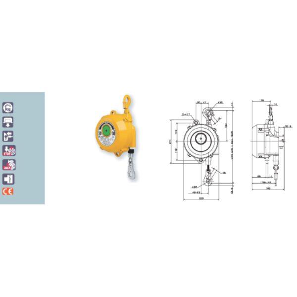 EWF 60 70 Avvitatori per assemblaggio industriale I bilanciatori a molla della gamma Airtechnology / ENDO presentano diversi modelli ciascuno con specifiche peculiarità: SERIE EK – ERP – Capacità di bilanciamento e ritrazione leggera per carichi fino a 1,5 Kg per EK e fino a 2,0 Kg per ERP SERIE ATB-THB – Capacità di bilanciamento e ritrazione con alimentazione diretta avvitatori pneumatici di peso sino a 6,5 Kg SERIE EW - EWS – Capacità di bilanciamento e ritrazione per carichi sino a 7 Kg SERIE EWF - Capacità di bilanciamento e ritrazione per carichi sino a 120 Kg SERIE A – Capacità di bilanciamento e ritrazione da 70 fino a 120 Kg con sistema di riavvolgimento e ritrazione frizionato per un riavvolgimento rallentato e gancio di appensione prolungato SERIE B – Capacità di bilanciamento e ritrazione sino a 7 Kg con sistema di riavvolgimento e ritrazione frizionato per un riavvolgimento rallentato SERIE C Green Generation - Bilanciatori in acciaio zincato non verniciato capacità di sollevamento e ritrazione siano a 120 Kg SERIE X Green Generation - Bilanciatori in acciaio zincato non verniciato capacità di sollevamento e ritrazione siano a 120 Kg SERIE Y Green Generation - Bilanciatori in acciaio INOX capacità di sollevamento e ritrazione siano a 120 Kg ideali PER APPLICAZIONI IN AMBITI ALIMENTARI SERIE ELF - Capacità di bilanciamento e ritrazione sino a 70 Kg ma con corsa di avvolgimento lunga SERIE EWA - Capacità di bilanciamento e ritrazione sino a 70 Kg ma con sistema di sicurezza anti riavvolgimento improvviso del cavo (snap-back) in caso di perdita del carico o di rottura del cavo di apprensione carico SERIE ETP - Capacità di bilanciamento e ritrazione per carichi da 120 Kg sino a 200 Kg
