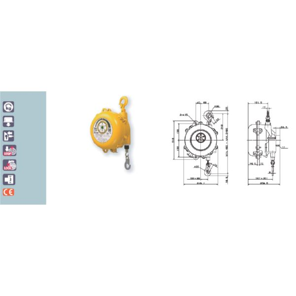 EWF 90 105 120 Avvitatori per assemblaggio industriale B Series Spring Balancers are designed to increase productivity in any situations where repetitive or prompt vertical movement of fixed load is required.